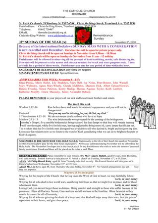 Parish Bulletin: November 7