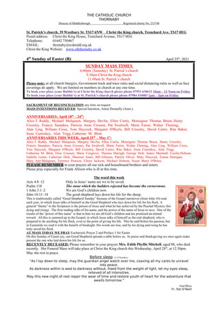 Parish Bulletin: April 24