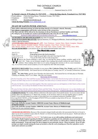 Parish Bulletin: June 27