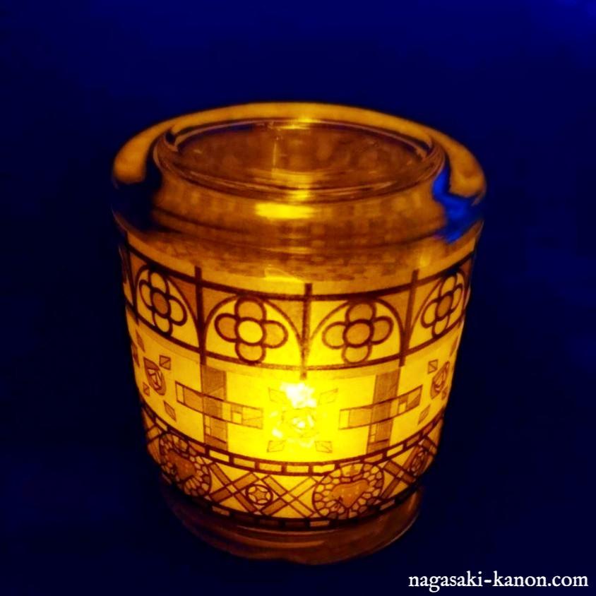 冷水教会,中ノ浦教会,土井ノ浦教会のマスキングテープを使ったランプ