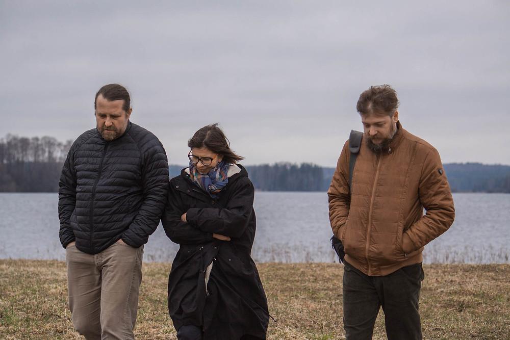 Сергей Ахунов, Оля Азхунова и Алексей Муравьев