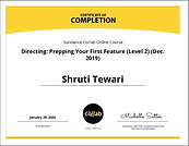 Certificate of Completion - Sundance Col