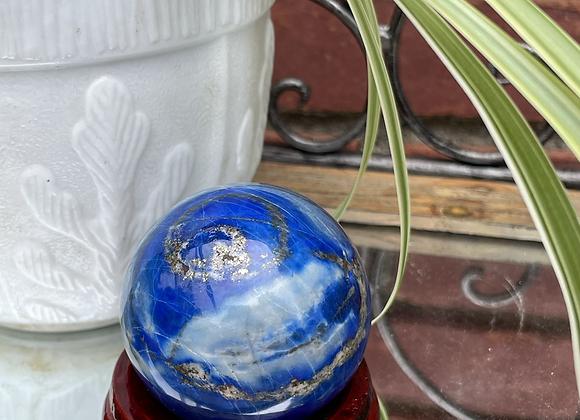 Lapis Lazuli w/ pyrite flecks sphere
