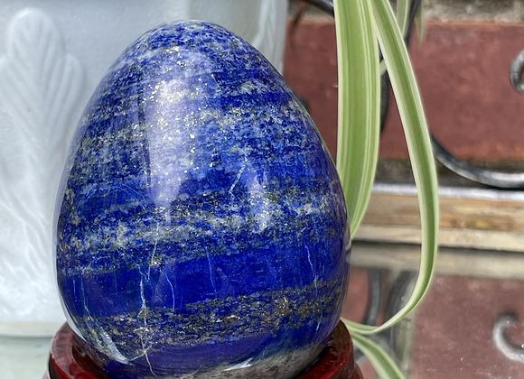 Lapis Lazuli w/pyrite flecks Egg