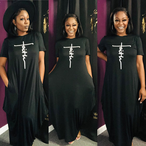"""""""Talk about that FAITH"""" Dress (PRE-ORDER ONLY)"""