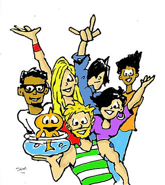 The millennial comic strip gang