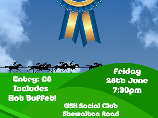 Race Night This Friday - Get Your Tickets!!