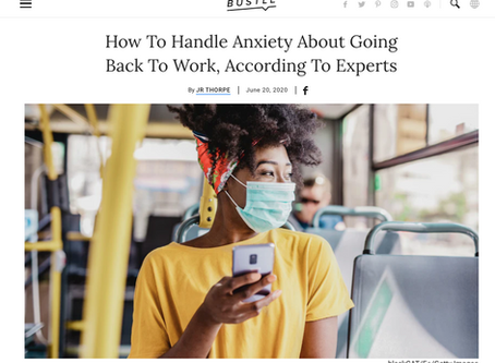 How To Handle Anxiety About Going Back To Work