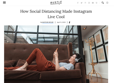 How Social Distancing Made Instagram Live Cool