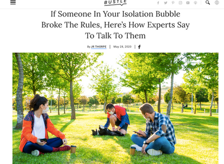 Someone In Your Isolation Bubble Broke The Rules. Here's How Talk To Them