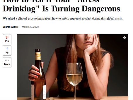 """How to Tell If Your """"Stress Drinking"""" Is Turning Dangerous"""