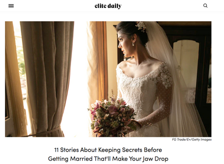 11 Stories About Keeping Secrets Before Getting Married That'll Make Your Jaw Drop
