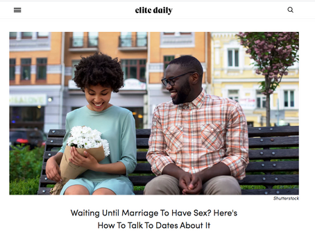 Are You Waiting Until Marriage? How Do You Say That To Your Date?