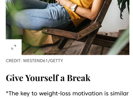 Dr. Josh Tells SHAPE: Give Yourself A Break