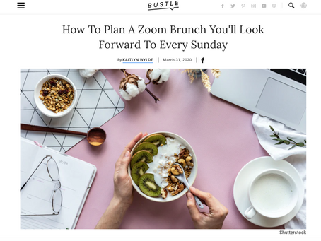 Isolation? No Problem. Here's A Zoom Brunch.
