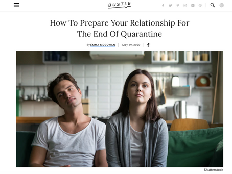 How To Prepare Your Relationship For The End Of Quarantine