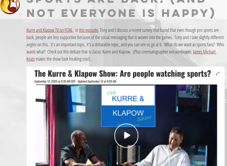 Kurre and Klapow TV: Sports Are Back