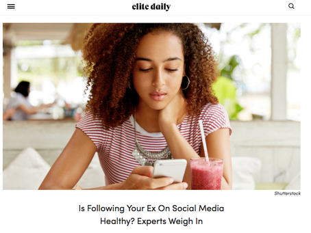 Is Following Your Ex On Social Media Healthy?