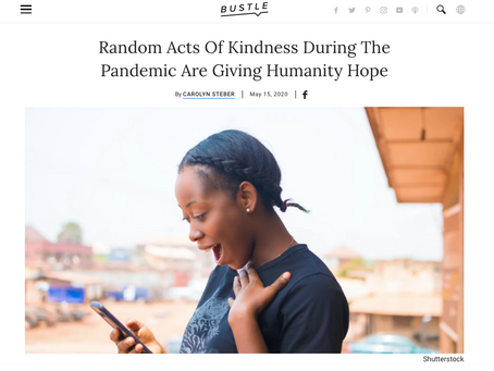 Why Acts of Kindness Are Critical Right Now.