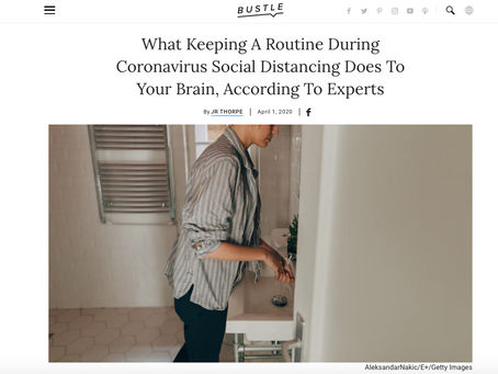 What Keeping A Routine During Coronavirus Social Distancing Does To Your Brain