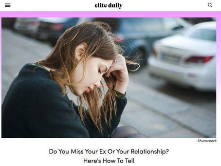 Are You Really Missing Your Ex Or Is It Something Else?