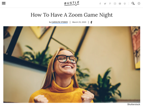 Staying Connected: Zoom Game Night
