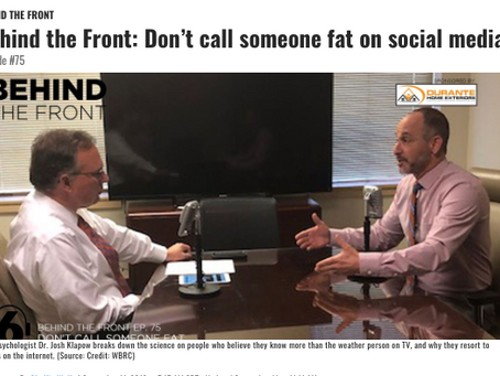 Behind the Front Podcast: Don't call someone fat on social media