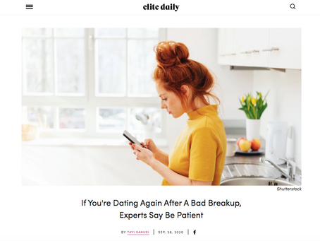 If You're Dating Again After A Bad Breakup, Be Patient