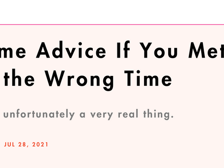 Cosmopolitan Interview: Timing Is Everything.