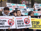 Koreans Protest Trump as the US Congress Tries to Restrain Him