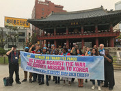 U.S. Labor Against the War Delegation Celebrates May Day with South Korean Workers