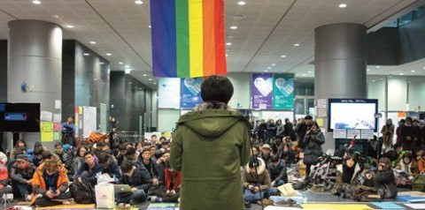 Rainbow occupation Seoul City hall