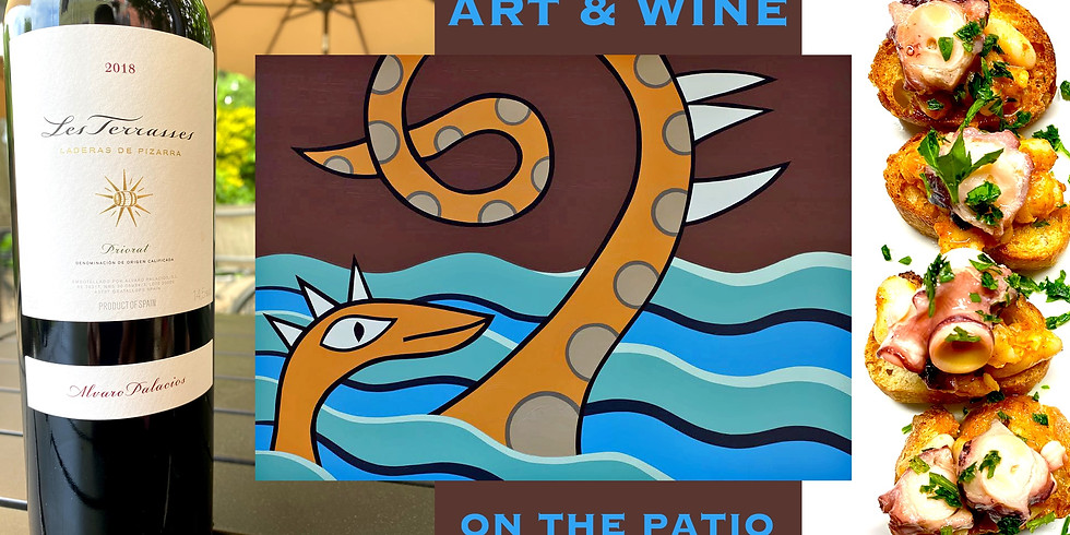 Art & Wine on the Patio - Surface Dynamics  A solo art exhibit by Valerie Berner