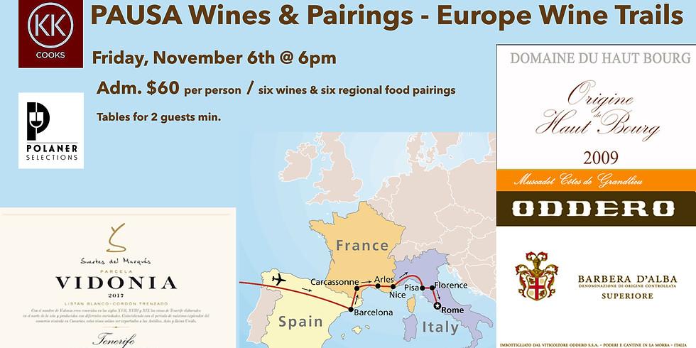PAUSA Wines & Pairings - Europe Wine Trails