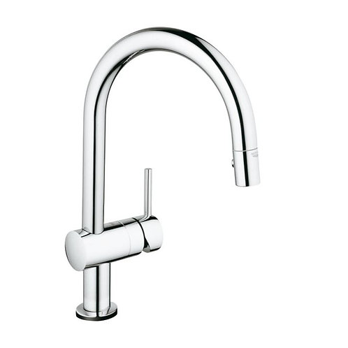 Grohe Minta Touch Single Lever Pull Out Spray C Sput