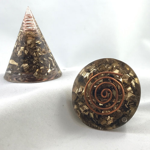 "Small 2.5"" Cone Orgonite"