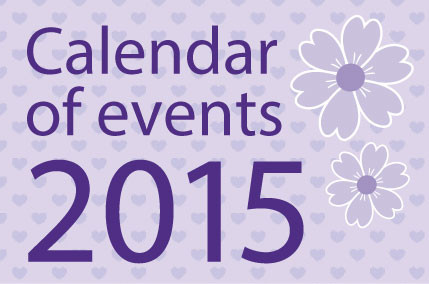 Sewing and Craft Masterclass, Calendar of Events 2015