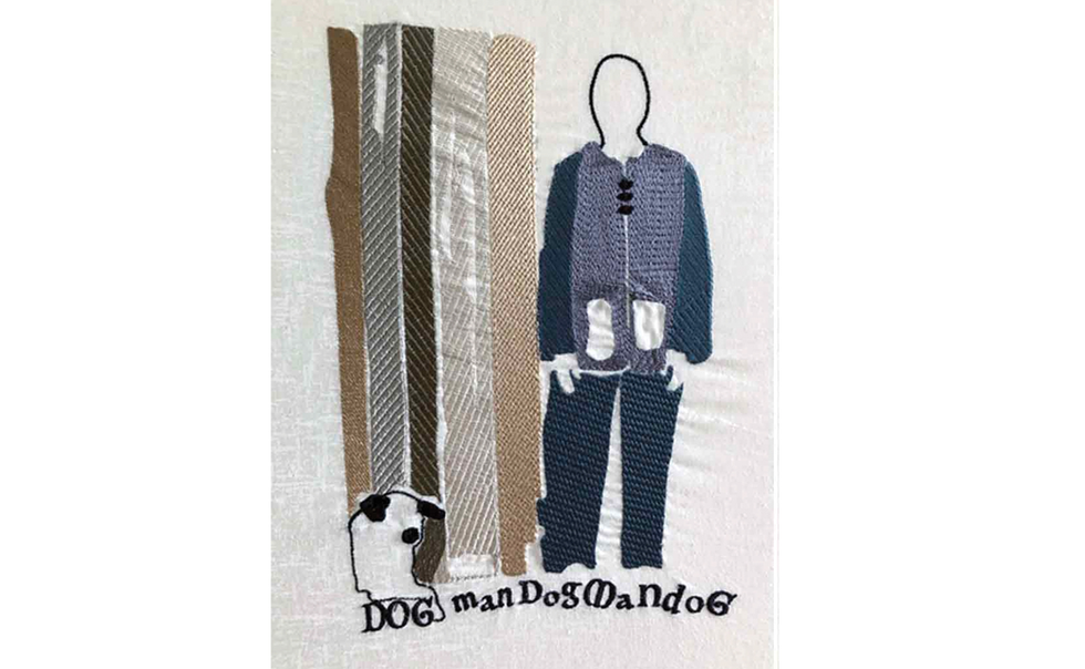 Man and Dog. I've enjoyed playing with the Artistic software, to personalise my own art ideas. Love the creative freedom