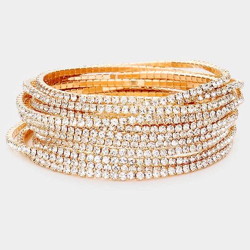 Gold Stretch Bling Bracelets