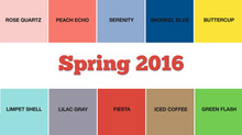 Spring 2016 Official Pantone Color Palette