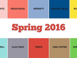Spring 2016 Official Pantone Color Palette