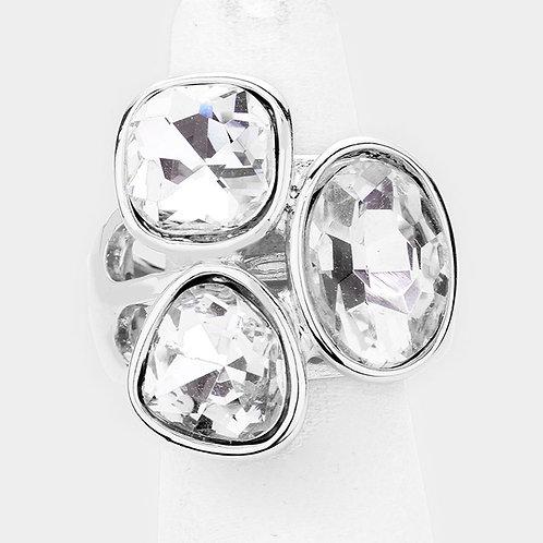 CZ Trio Ring