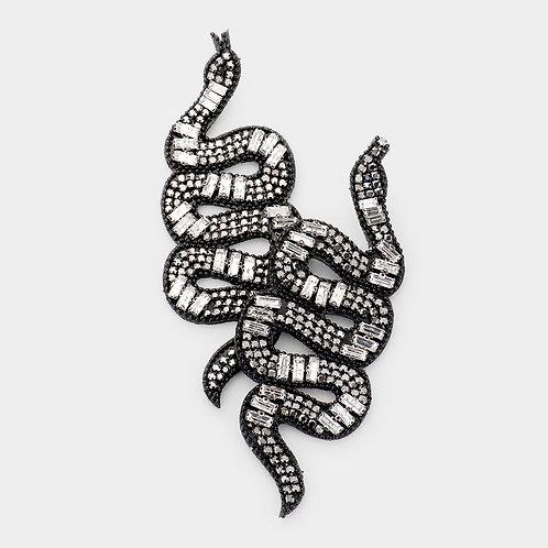Oversized Bling Snake Earrings