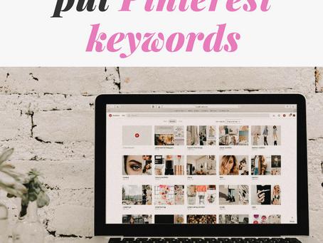 7 Places to Put Pinterest Keywords