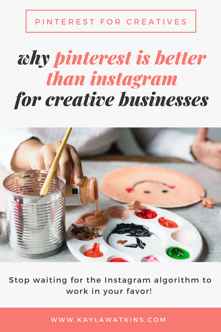 Pinterest for bloggers tips and why it's better than instagram for getting website traffic.