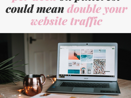 HOW SPENDING 1.5 HOURS PER WEEK ON PINTEREST COULD MEAN DOUBLE YOUR WEBSITE TRAFFIC