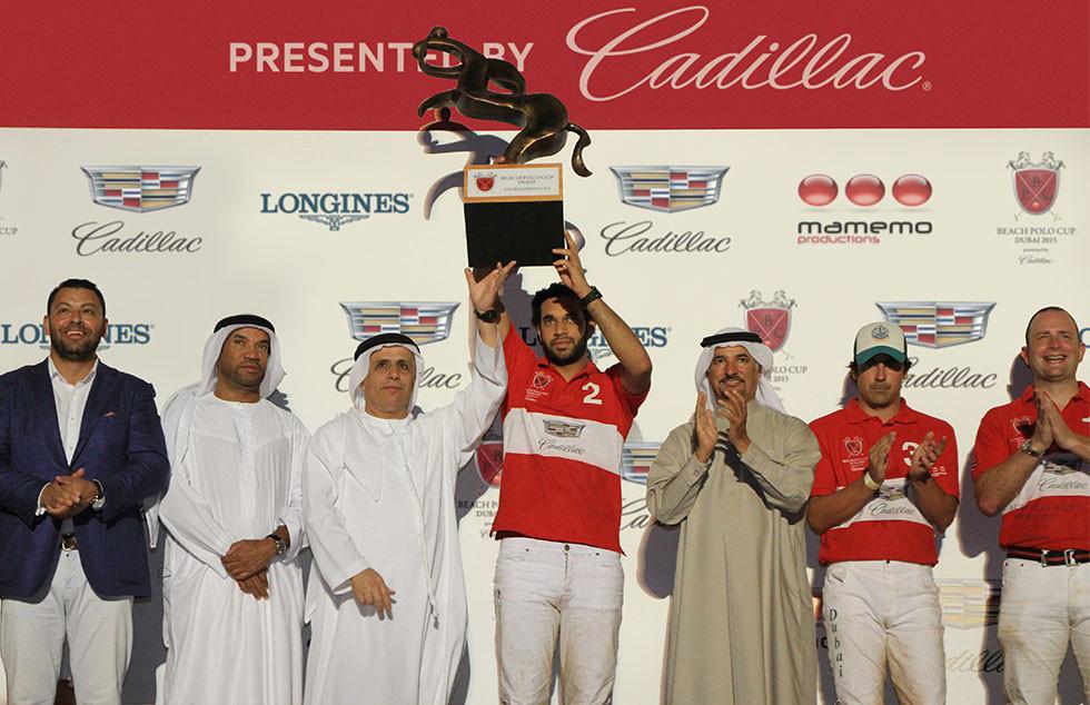 Team Cadillac reigns supreme at the 2015 Beach Polo Cup Dubai!