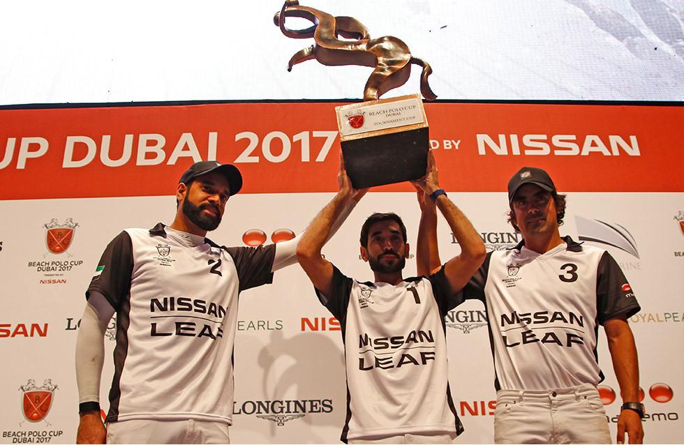 Team Nissan LEAF claimed victory at the Beach Polo Cup Dubai 2017