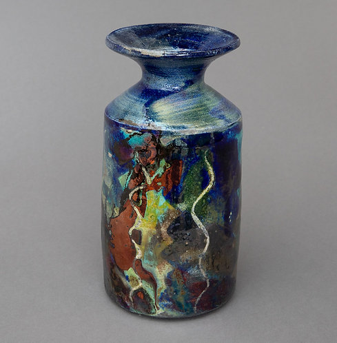 Raku Bottle - Jackie Knight