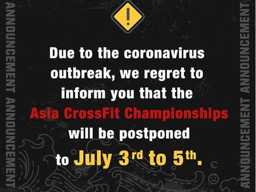 Asia CrossFit Championships Postponed due to Coronavirus Concerns